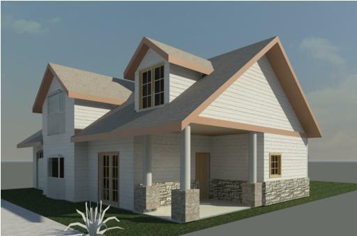 Projeto de sobrado estilo americano 4d projetos for Fachadas de casas americanas