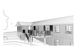 casa em terreno desnivelado