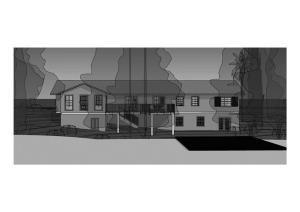 casa em terreno declive