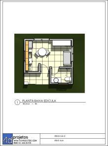 EDICULA plantabaixa fachadas -  EDICULA
