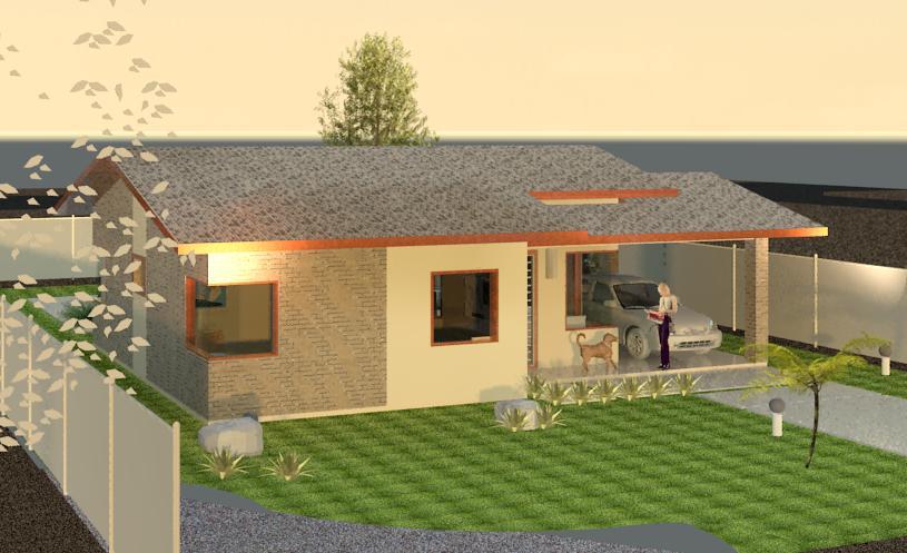 Casa 50 a 100m2 4d projetos arquitetura sustent vel for Modelos de apartamentos