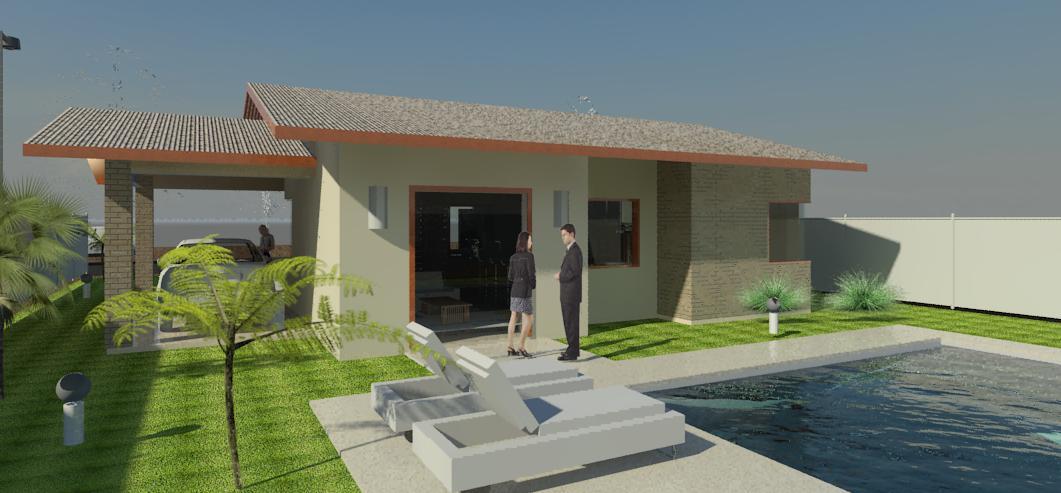 Projetos casas terreas 4d projetos arquitetura sustent vel for Modelos de apartamentos