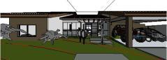 projeto casa terrea tijolo ecologico - 3D View - fremte