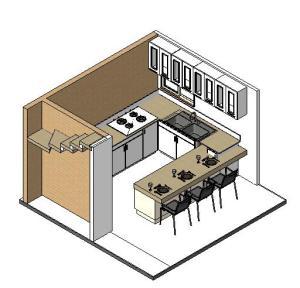 PROJETO CASAS GEMINADAS SUSTENTAVEL - 3D View - COZINHA 1