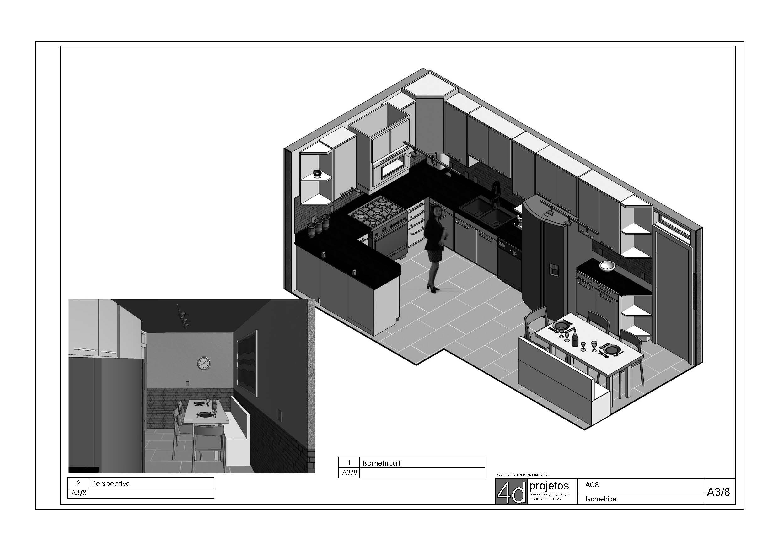 PROJETOS DE COZINHA 4d Projetos Arquitetura Sustentável #666666 2482 1755