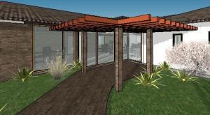 projeto de hotel pousada - 3D View - 3D View 13