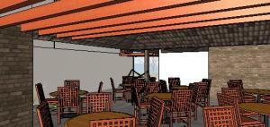projeto de hotel pousada - 3D View - 3D View 15