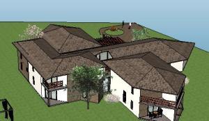 projeto de hotel pousada - 3D View - 3D View 16