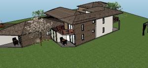 projeto de hotel pousada - 3D View - 3D View 2