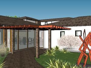 projeto de hotel pousada - 3D View - 3D View 8