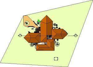 projeto de hotel pousada - Floor Plan - PLANTA DE COBERTURA