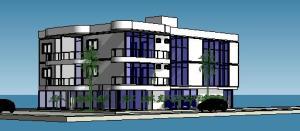 projeto de predio de esquina - loja apartamentos