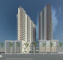 projeto de predio residencial comercial