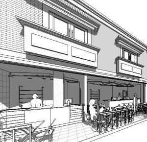 Projeto loja de shopping fachada