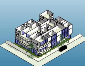 projeto predio de esquina - 3D