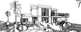 sobrado moderno bloco de concreto - fachada
