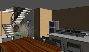 VY-Sobrado tijolo Ecologico - 3D View - 3D View 5