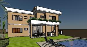 VY-Sobrado tijolo Ecologico - 3D View - 3D View 6