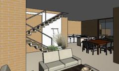 VY-Sobrado tijolo Ecologico - 3D View - 3D View 8