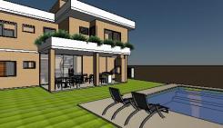 VY-Sobrado tijolo Ecologico - 3D View - AREA DE LAZER 3