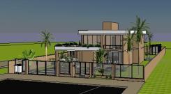 VY-Sobrado tijolo Ecologico - 3D View - FRENTE 4