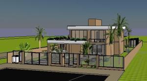 Sobrado tijolo Ecologico - 3D