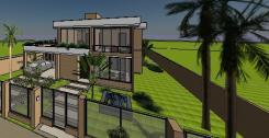 VY-Sobrado tijolo Ecologico - 3D View - FRENTE 5