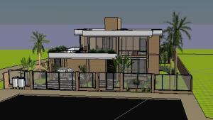 VY-Sobrado tijolo Ecologico - 3D View - FRENTE