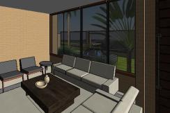 VY-Sobrado tijolo Ecologico - 3D View - LIVING