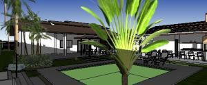 paisagismo projeto casa terrea - 3D View - 3D View 1
