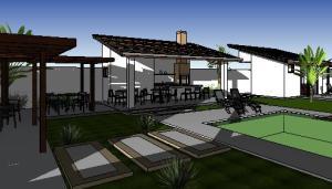 paisagismo projeto casa terrea - 3D View - 3D View 2