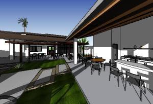 paisagismo projeto casa terrea - 3D View - 3D View 5
