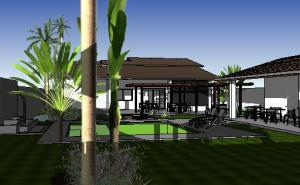 paisagismo projeto casa terrea - 3D View - 3D View 6
