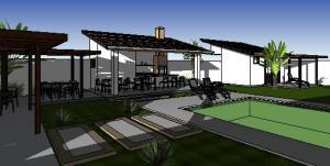 paisagismo projeto casa terrea - 3D View - Copy of 3D View 2