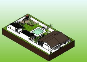paisagismo projeto casa terrea - 3D View - Copy of iso