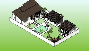 paisagismo projeto casa terrea - 3D View - PERSPECTIVA