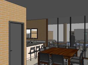 projeto tijolo ecologico casa terrea - 3D View - 3D View 2