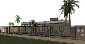 projeto tijolo ecologico casa terrea - 3D View - 3D View 8