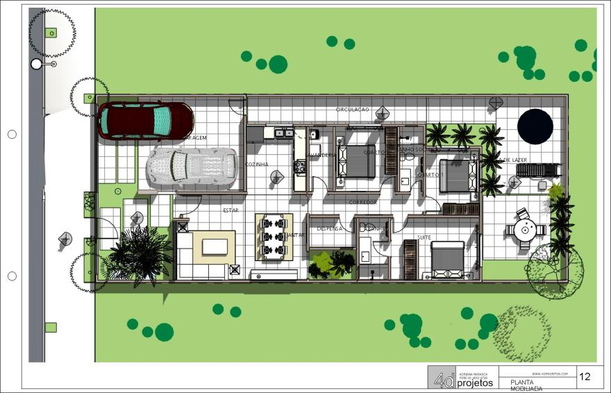 casa terrea terreno 10x20 - Sheet - 12 - PLANTA MOBILIADA