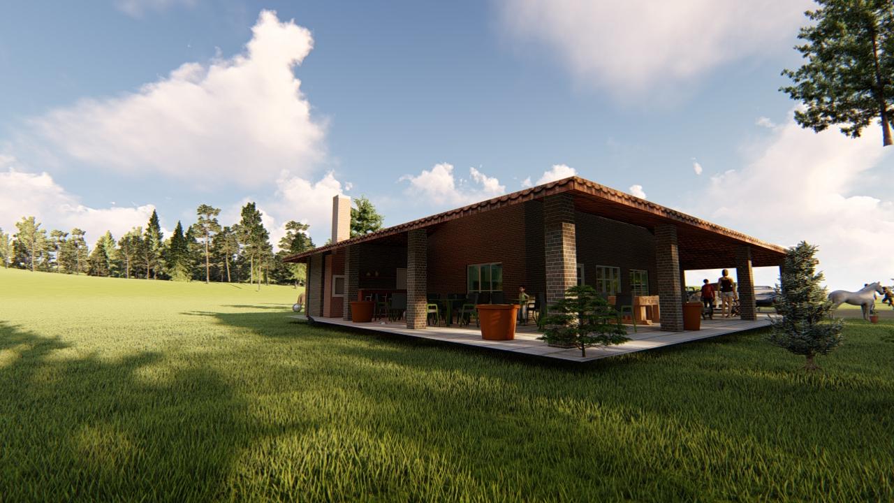 projeto arquitetura de casa de fazenda